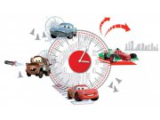 Dekorace hodiny Cars D70103, rozměry 25 x 70 cm Dětské samolepky na zeď