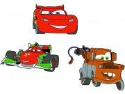 Dekorace Cars D23670, 3 ks Dětské dekorace na zeď