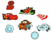 Dekorace Cars D23863, 24 ks Dětské dekorace na zeď