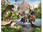 3D fototapeta Walltastic Dinosauři 41745   305x244 cm Fototapety skladem
