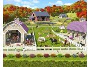 3D fototapeta Walltastic Stáje pro Koně 40113 | 305x244 cm Fototapety pro děti