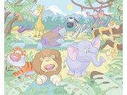3D fototapeta Walltastic Baby džungle 40595 | 305x244 cm Fototapety pro děti