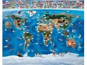 3D fototapeta Walltastic Mapa Světa 41851 | 305x244 cm Fototapety pro děti
