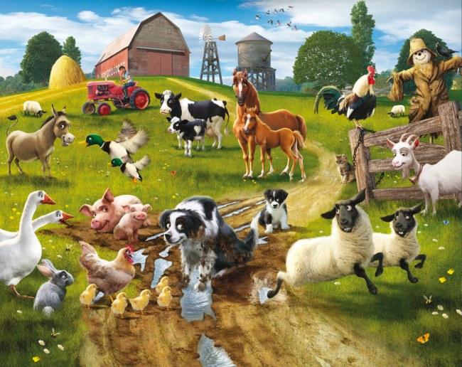 3D fototapeta Walltastic Farma 41806 | 305x244 cm - Fototapety pro děti