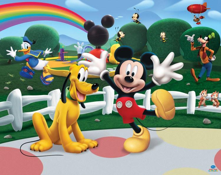 3D fototapeta Walltastic Mickeyho klubík 42056 | 305x244 cm - Fototapety pro děti