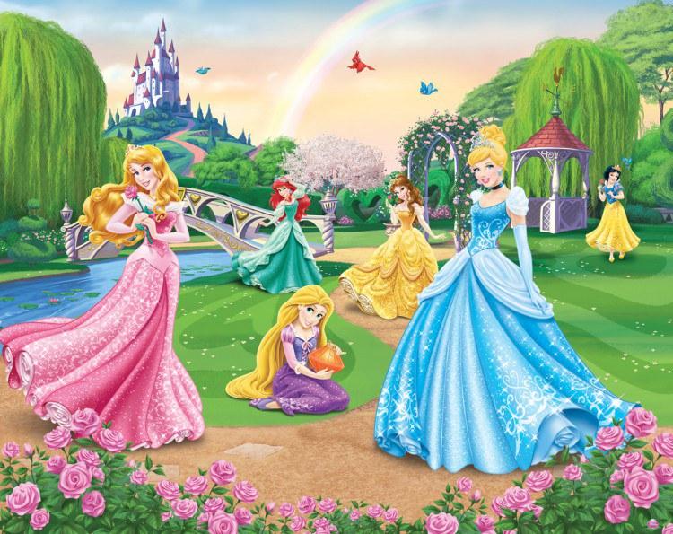 3D fototapeta Walltastic Princezny 42087 | 305x244 cm - Fototapety skladem