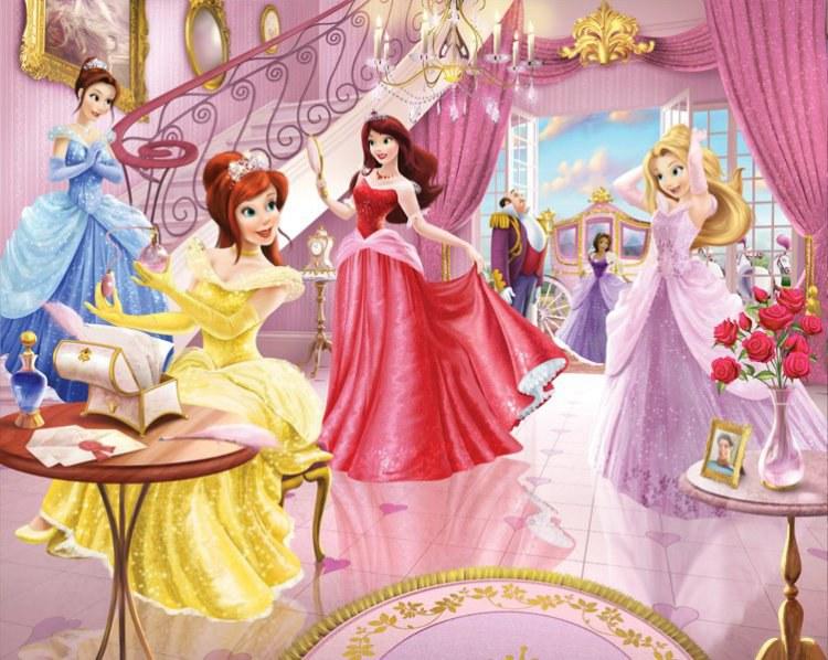 3D foto tapeta Walltastic Princeze 41783 | 305x244 cm - Foto tapete
