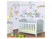 Samolepicí dekorace Walltastic Baby Jungle 41059 Dětské samolepky na zeď