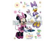 Samolepicí dekorace Minnie a kamarádka DK-0856, 85x65 cm Dětské samolepky na zeď