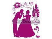 Samolepicí dekorace Princezna a Princ DK-0871, 85x65 cm Dětské samolepky na zeď