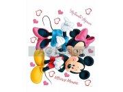 Samolepicí dekorace Mickey a Minnie Love DK-1753, rozměry 42,5 x 65 cm Dětské samolepky na zeď