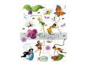 Samolepicí dekorace Fairies a motýlci DK-0883, 85x65 cm Dětské samolepky na zeď