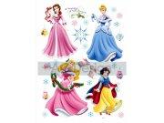 Samolepicí dekorace Princezny a vánoce DK-0888, 85x65 cm Dětské samolepky na zeď