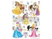 Samolepicí dekorace Princezny a koně DK-1773, 85x65 cm Dětské samolepky na zeď