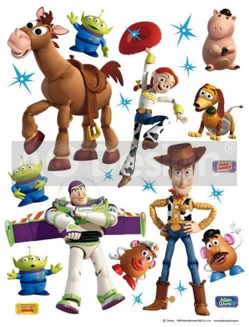 Samolepicí dekorace Toy Story DK-1771, 85x65 cm - Dětské samolepky na zeď