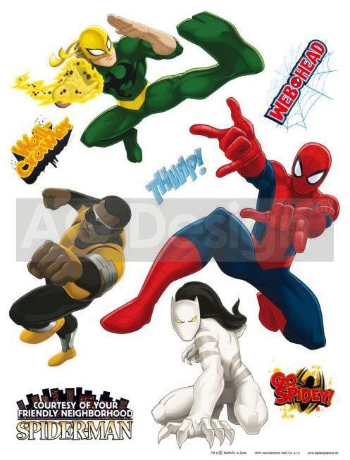 Samolepicí dekorace Spiderman DK-1775, 85x65 cm - Dětské samolepky na zeď