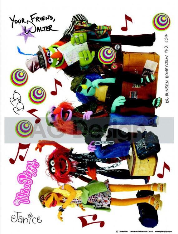 Samolepicí dekorace Muppets DK-1704, 85x65 cm - Dětské samolepky na zeď