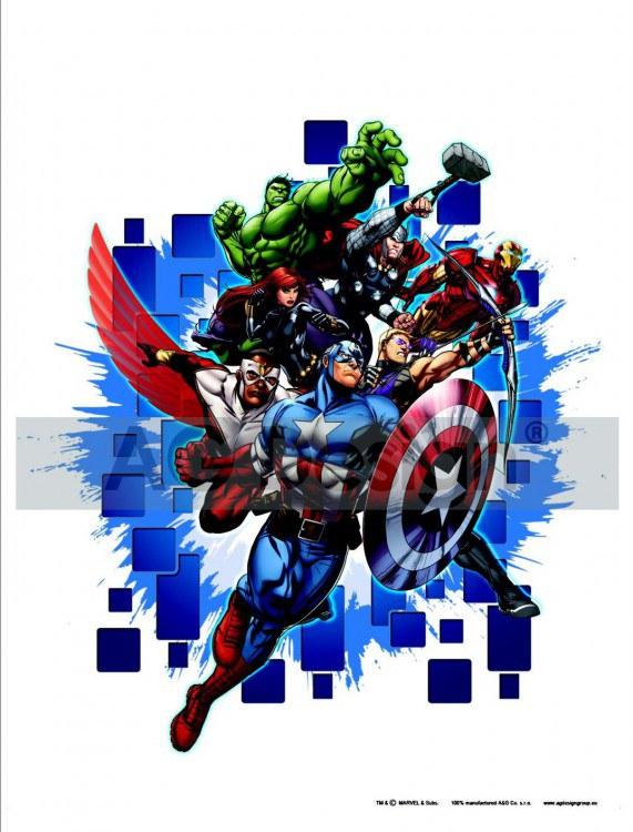 Samolepicí dekorace Avengers neporazitelní DK-1715, 85x65 cm - Dětské samolepky na zeď