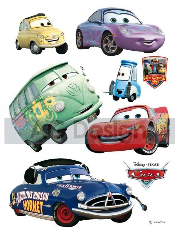 Samolepicí dekorace Cars a Kamarádi DK-0851, 85x65 cm - Dětské samolepky na zeď
