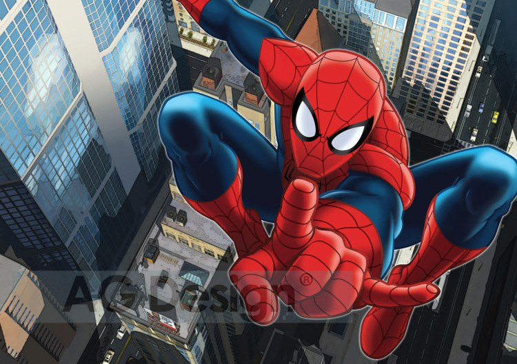 Dětská papírová fototapeta AG Design Spiderman jump FTDS-2209, rozměry 360 x 254 cm