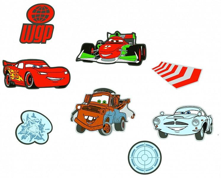 Dekorace Cars D23863, 24 ks - Dětské dekorace na zeď