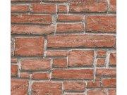 Vinylová tapeta na zeď kamenná zeď červená 6621-18 Tapety skladem