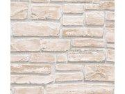 Vinylová tapeta na zeď kamenná zeď béžová 6621-25 Tapety skladem