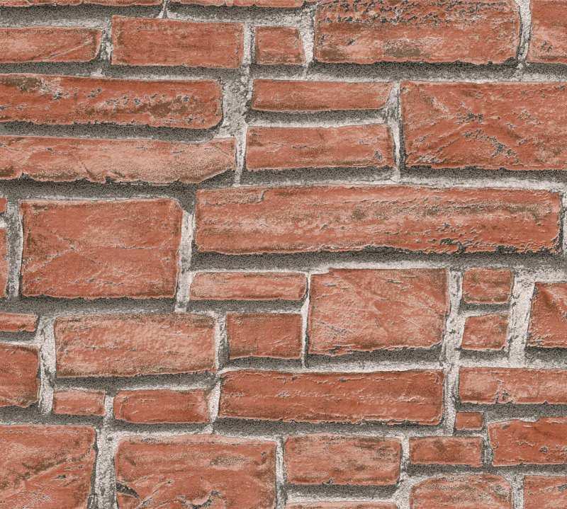 Vinylová tapeta na zeď kamenná zeď červená 6621-18 - Tapety skladem
