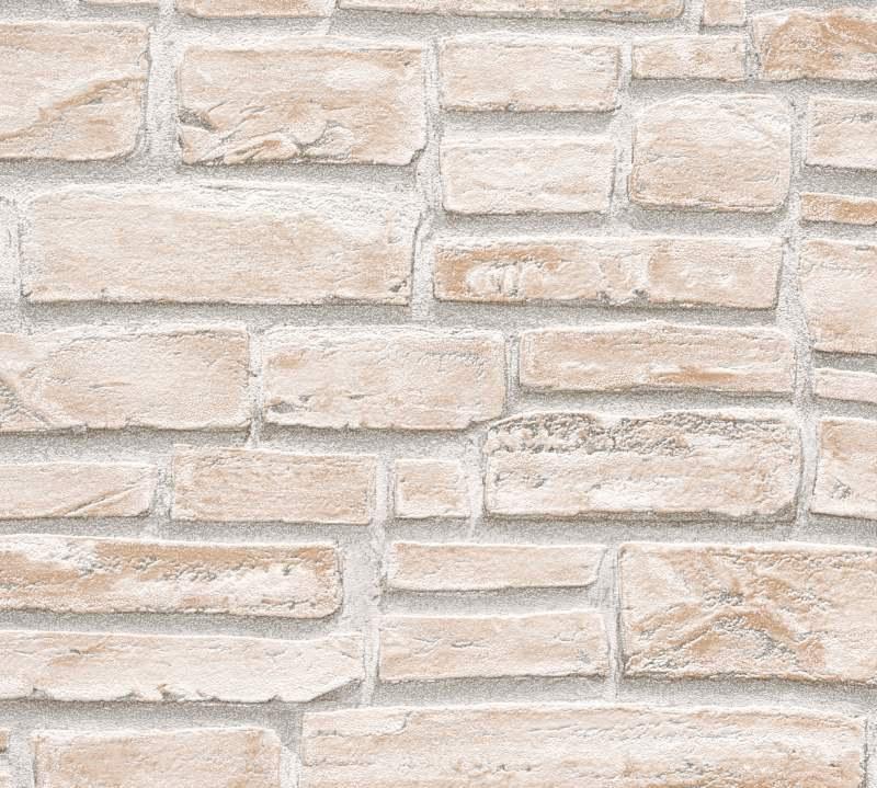 Vinylová tapeta na zeď kamenná zeď béžová 6621-25 - Tapety skladem
