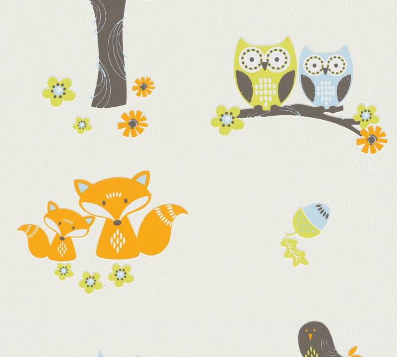 Vliesová dětská tapeta na zeď zvířátka 94115-1 - Tapety skladem