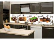 Fototapeta na kuchyňskou linku Čokoláda KI-260-021, 260x60 cm Samolepící fototapety