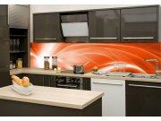 Fototapeta na kuchyňskou linku Oranžový abstrakt KI-260-037, 260x60 cm Fototapety skladem