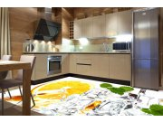 Samolepicí fototapeta na podlahu Citron s ledem FL-255-035, 255x170 cm Samolepící fototapety - Na podlahu
