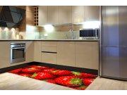 Samolepicí fototapeta na podlahu Jahody FL-85-017, 85x170 cm Samolepící fototapety - Na podlahu