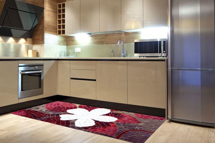 Samolepicí fototapeta na podlahu Mozaika FL-85-014, 85x170 cm - Na podlahu
