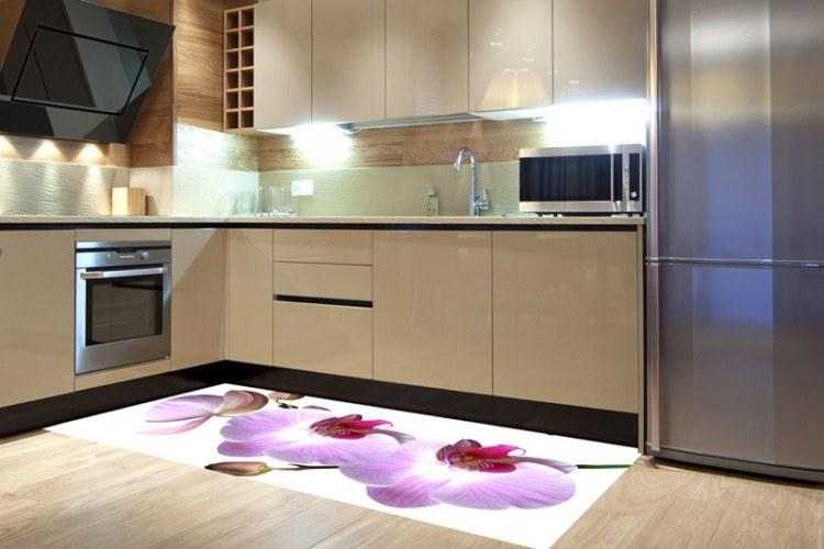 Samolepicí fototapeta na podlahu Orchidej FL-85-015, 85x170 cm - Na podlahu