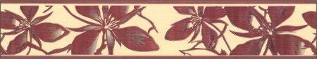Samolepící bordura Hnědé lístky SB02-251, rozměry 5 cm x 10 m - Samolepící bordury