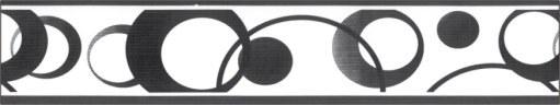 Samolepící bordura Černé kolečka SB02-334, rozměry 5 cm x 10 m - Samolepící bordury