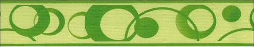 Samolepící bordura Zelené kolečka SB02-336, rozměry 5 cm x 10 m - Samolepící bordury