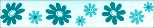Samolepící bordura Modré květy SB02-366, rozměry 5 cm x 10 m - Samolepící bordury