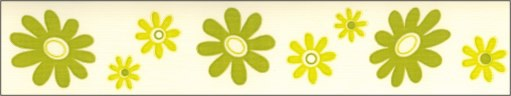 Samolepící bordura Zelené květy SB02-369, rozměry 5 cm x 10 m - Samolepící bordury
