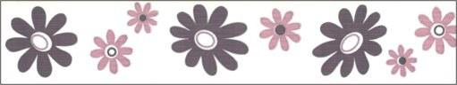 Samolepící bordura Růžové květy SB02-371, rozměry 5 cm x 10 m - Samolepící bordury