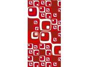 Samolepící laminovaná fototapeta D042 Red squares, rozměry 95 x 210 cm Fototapety na dveře