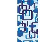 Samolepící laminovaná fototapeta D043 Blue squares, rozměry 95 x 210 cm Fototapety na dveře