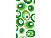 Samolepící laminovaná fototapeta D044 Green ovals, rozměry 95 x 210 cm Fototapety na dveře