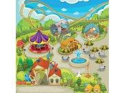Vliesová fototapeta Dimex Zábavní park L-285 | 220x220 cm Fototapety pro děti