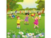 Vliesová fototapeta Dimex Děti na zahradě L-286 | 220x220 cm Fototapety pro děti