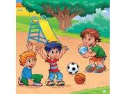 Vliesová fototapeta Dimex Děti na hřišti L-289 | 220x220 cm Fototapety pro děti