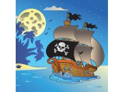 Vliesová fototapeta Dimex Pirátská loď L-278 | 220x220 cm Fototapety pro děti