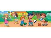 Vliesová fototapeta Dimex Děti na hřišti M-229 | 330x110 cm Fototapety pro děti
